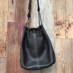J. Jill Leather Drawstring Bucket Bag